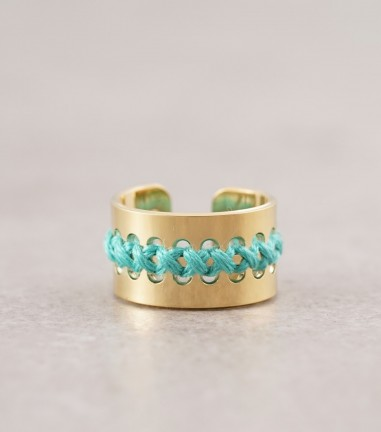 Turquoise gold Casma ring