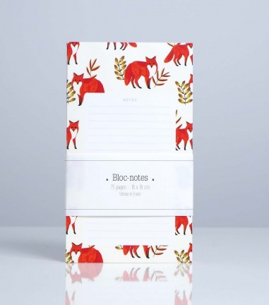 Foxes notepad