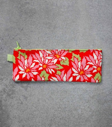 Red Flowers pencil case