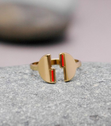 Coral Odyssee ring