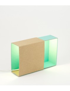 Turquoise matchbox light