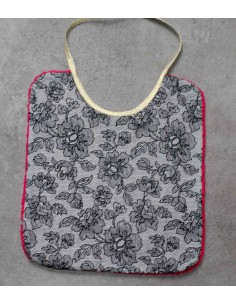 Pink FLowers Large Bib