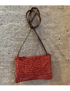 Red leather little bag