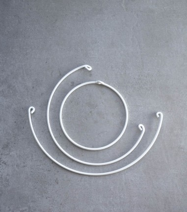 Set of 3 matte white wall hooks